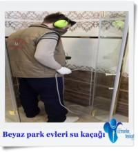 Beyaz park evleri su kaçağı